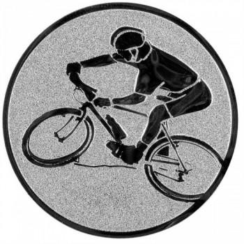 Poháry.com Emblém horská kola stříbro 25 mm