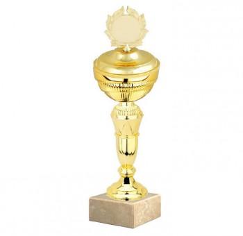 Poháry.com Sportovní pohár E033.2 GOLD s víkem