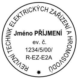 Výroba razítek Razítkový štoček pr.45 mm