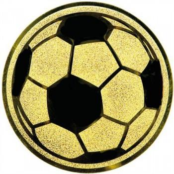 Poháry.com Emblém fotbal míč zlato 50 mm