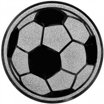 Poháry.com Emblém fotbal míč stříbro 25 mm