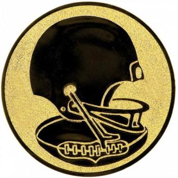 Poháry.com Emblém americký fotbal zlato 50 mm