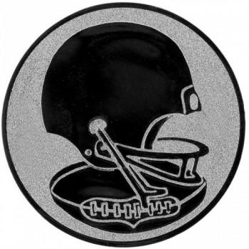 Poháry.com Emblém americký fotbal stříbro 50 mm