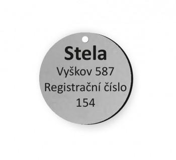Psí známka PZ01_1 - stříbrná