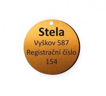 Psí známka PZ01_2 - bronzová