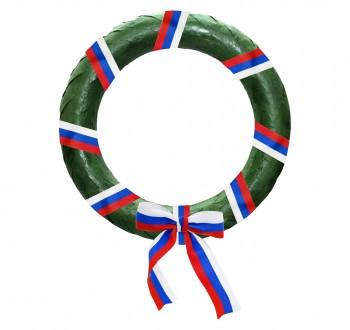 Poháry.com Vavřínový věnec zelený s trikolórou
