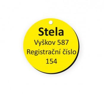 Psí známka PZ01_6 žlutá