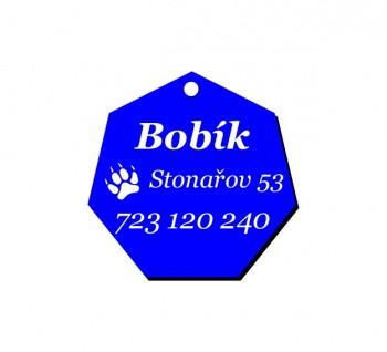 Psí známka PZ02_3 - modrá