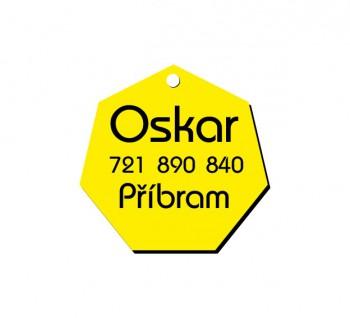 Psí známka PZ02_4 - žlutá
