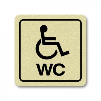 Piktogram WC pro invalidy zlato