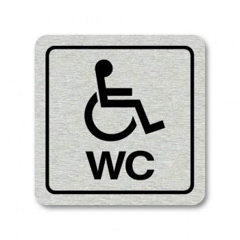 Piktogram WC pro invalidy stříbro