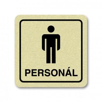 Piktogram WC pro personál muži zlato