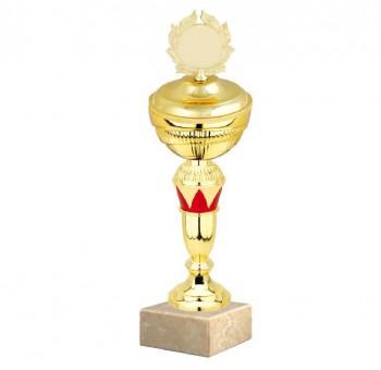 Poháry.com Sportovní pohár E033.4 ROSSO s víkem