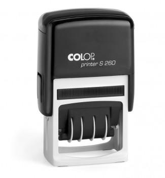 Razítko Colop printer S 260-Dater se štočkem modrý polštářek