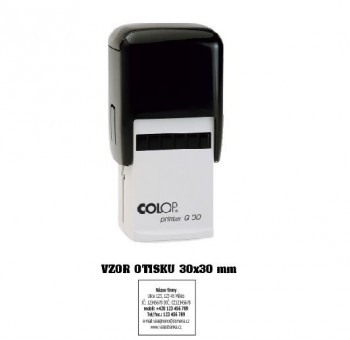 Razítko na geocasching COLOP Printer Q30/černá - fialový polštářek