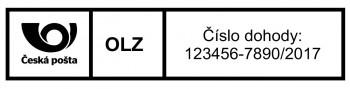 Výroba razítek Poštovní štoček pro razítko na vnitrostátní zásilky Printer 25 (Trodat 4918) - TYP 1