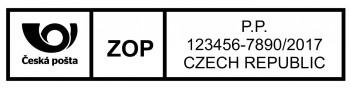 Výroba razítek Poštovní štoček pro razítko na mezinárodní zásilky Printer 25 (Trodat 4918) - TYP 2