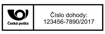 Výroba razítek Poštovní štoček pro razítko na vnitrostátní zásilky Printer 40 (Trodat 4915) - TYP 3