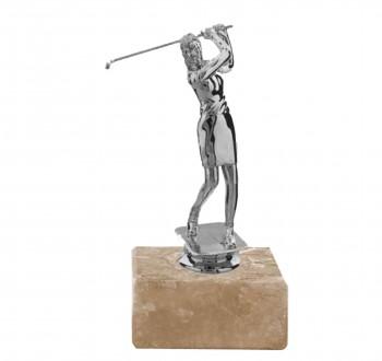 Poháry.com Soška golf žena F024 starostříbro