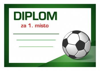 Poháry.com Diplom fotbal D43