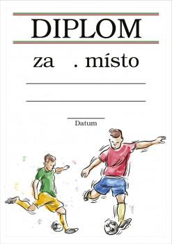 Poháry.com Diplom fotbal D45