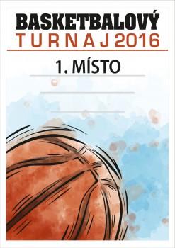 Poháry.com Diplom basketbal D46