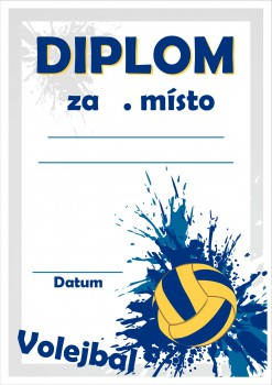 Poháry.com Diplom volejbal D48