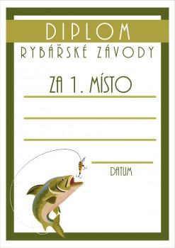 Poháry.com Diplom rybářský D49
