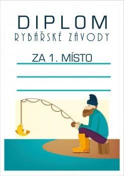 Poháry.com Diplom rybářský D50