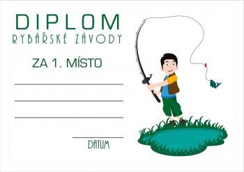 Poháry.com Diplom rybářský D51