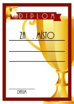 Poháry.com Diplom pohár D55