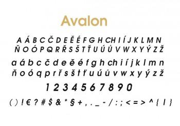 Font písma Avalon