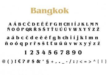 Font písma Bangkok