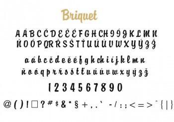 Font písma Briquet