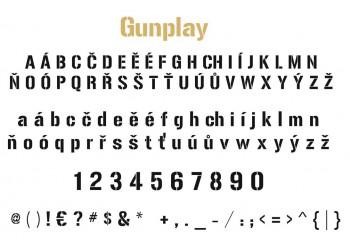 Font písma Gunplay