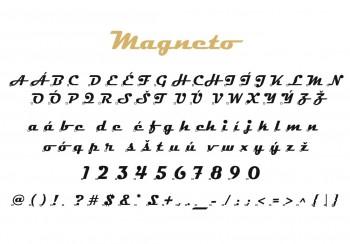 Font písma Magneto