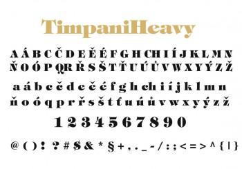 Font písma TimpaniHeavy