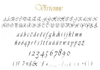 Font písma Vivienne