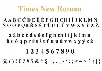 Font písma Times New Roman