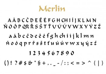 Font písma Merlin