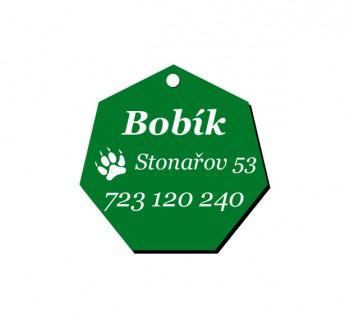 Psí známka PZ02 zelená