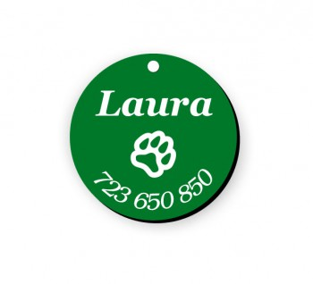 Psí známka PZ01 zelená