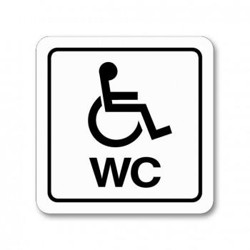 Piktogram WC invalidé samolepka