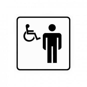 Piktogram WC pro invalidy samolepka