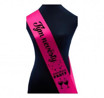 Šerpa pro tým nevěsty 02 růžová / černý