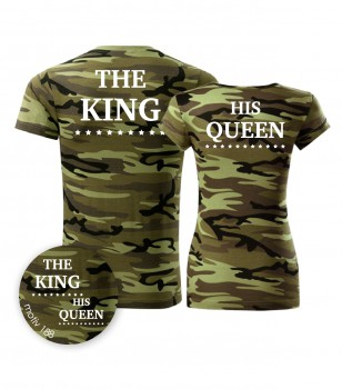 Adler Trička pro páry King and Queen 188 Camouflage Green