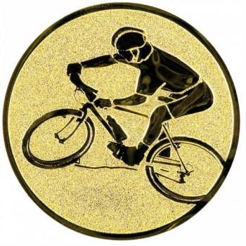 Poháry.com Emblém horská kola zlato 50 mm