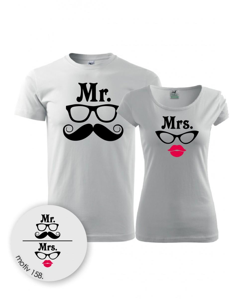 7028e747b161 Trička pro páry Mr. and Mrs. 158