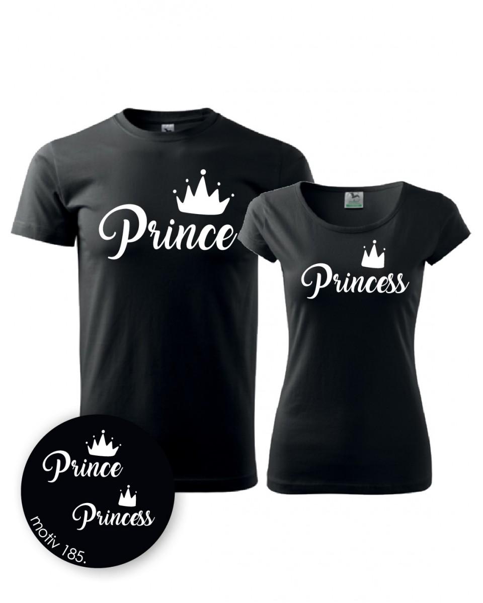 5c83c73d7c85 Trička pro páry Prince and Princess 185 černé