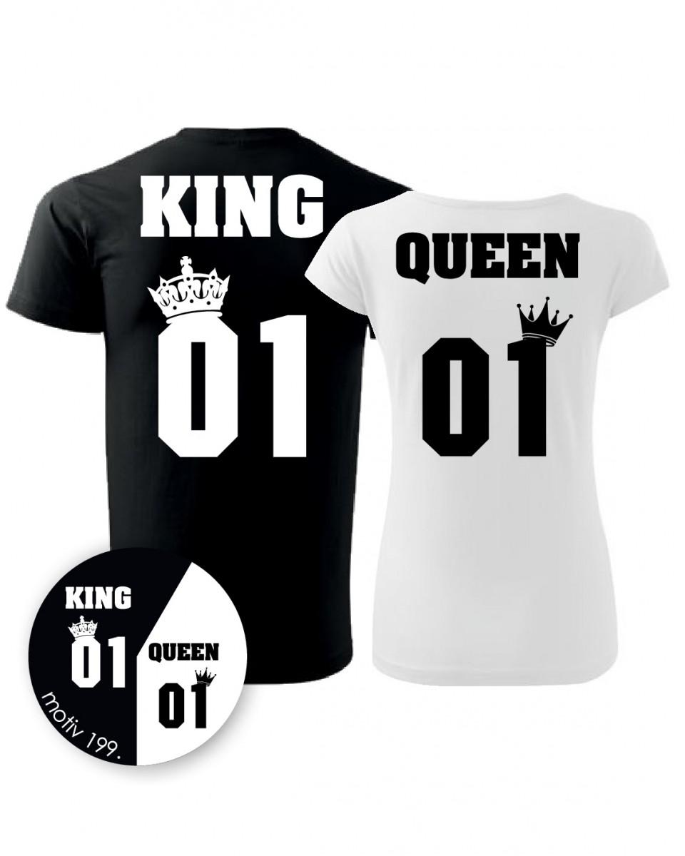 a9c4d68a885 Trička pro páry King and Queen 199